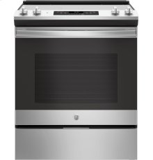 GE Appliances Microwave & Electric Range Set