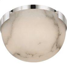 Visual Comfort KW4011PN-ALB Kelly Wearstler Melange LED 5 inch Polished Nickel Flush Mount Ceiling Light, Petite