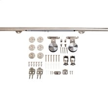 Barn Door Hardware Kit Contemporary Bar with Soft-close Stainless Steel 8 Foot Length