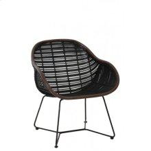 Chair 43x68x80 cm BREBES rattan black