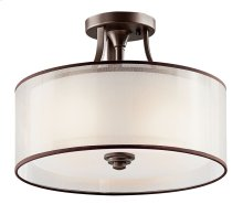 Lacey 3 Light Semi Flush Mission Bronze