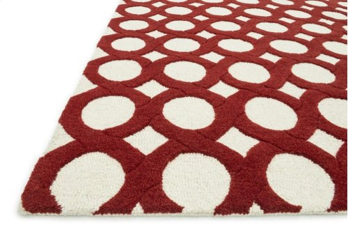 Ivory / Red Rug