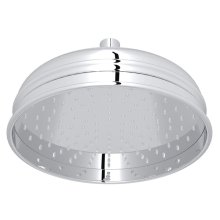"Polished Chrome 8"" Bordano Rain Anti-Cal Showerhead"
