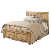 Homecoming Pine Panel Queen Bed - Complete Product Image