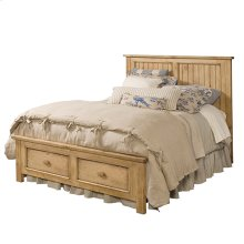 Homecoming Pine Panel Queen Bed - Complete