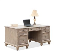 Coventry Executive Desk Weathered Driftwood finish