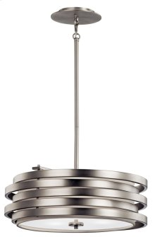 Roswell 3 Light Pendant Brushed Nickel
