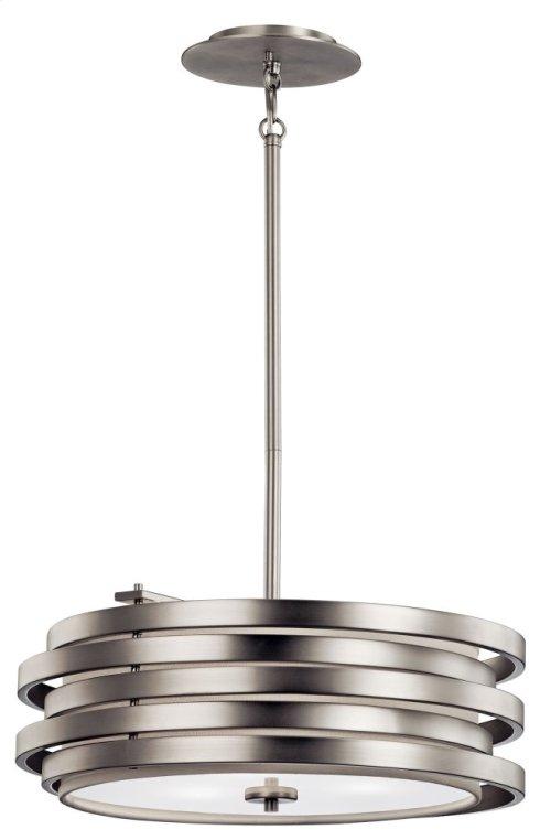 Roswell 3 Light Pendant Brushed Nickel