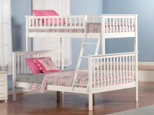 Woodland Bunk Bed Twin over Full in White