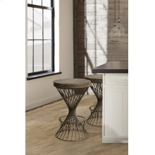 Kanister Backless Counter Stool - Walnut/dark Pewter