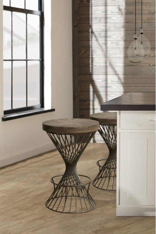 Kanister Backless Non-swivel Counter Stool