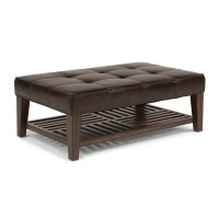 Port Royal Leather Rectangular Cocktail Ottoman Product Image