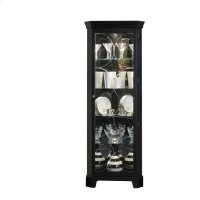 Lighted 4 Shelf Corner Curio Cabinet in Oxford Black Product Image