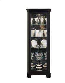 Lighted 4 Shelf Corner Curio Cabinet in Oxford Black