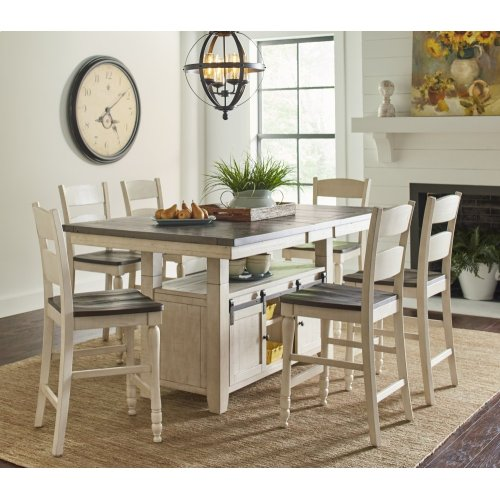 Madison County Ladderback Dining Chair (2/ctn) - Vintage White