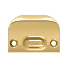 Full Lip Strike Plate For Ball Catch and Roller Catch - PVD Polished Brass