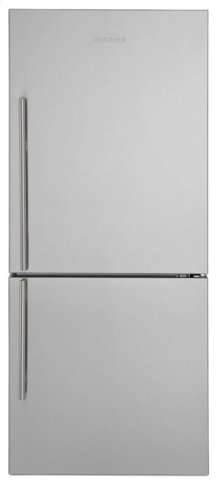 "30"" Bottom Freezer/Fridge 18 cu ft, wrapped stainless doors, stainless handles, right hinge"