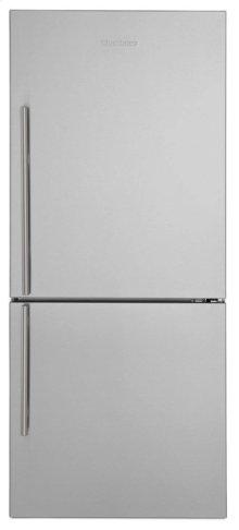 "30"" Bottom Freezer/Fridge 18 cu ft, wrapped stainless doors, stainless handles, right hinge"
