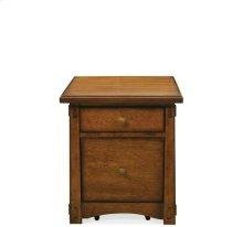 Craftsman Home Mobile File Cabinet Americana Oak finish