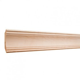 """3-1/4"""" x 3/4"""" Cove Crown Moulding: Finish: Hard Maple. Priced by the linear foot and sold in 8' sticks in cartons of 80' feet."""