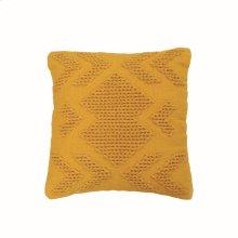20X20 Hand Woven Nia Pillow Mustard