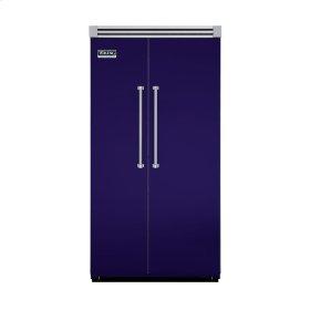 "Cobalt Blue 42"" Quiet Cool™ Side-by-Side Refrigerator/Freezer - VISB Tru-Flush™ (42"" wide)"