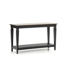 Living - Room Glennwood Sofa Back Table  Black & Charcoal