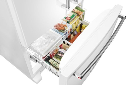 20 cu. ft. 36-Inch Width Counter-Depth French Door Refrigerator with Interior Dispense - White