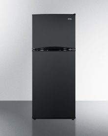 "24"" Wide 9.9 CU.FT. Frost-free Refrigerator-freezer In Black"