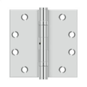 """4 1/2""""x 4 1/2"""" Square Hinge - Polished Stainless"""