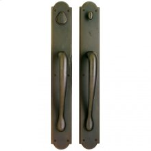 "Arched Push/Pull Set - 3 1/2"" X 26"" White Bronze Light"