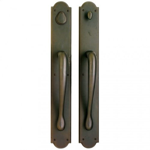 "Arched Push/Pull Set - 3 1/2"" X 26"" White Bronze Light"