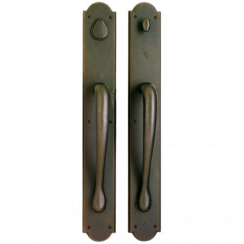 "Arched Push/Pull Set - 3 1/2"" X 26"" White Bronze Dark"