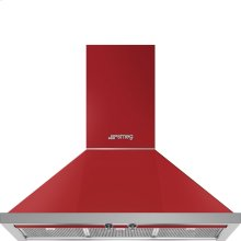 "36"" Portofino, Chimney Hood, Red"