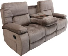 Manual Dual Reclining Sofa With Drop Down Console With Cup Holders and Usb Charging Port Product Image
