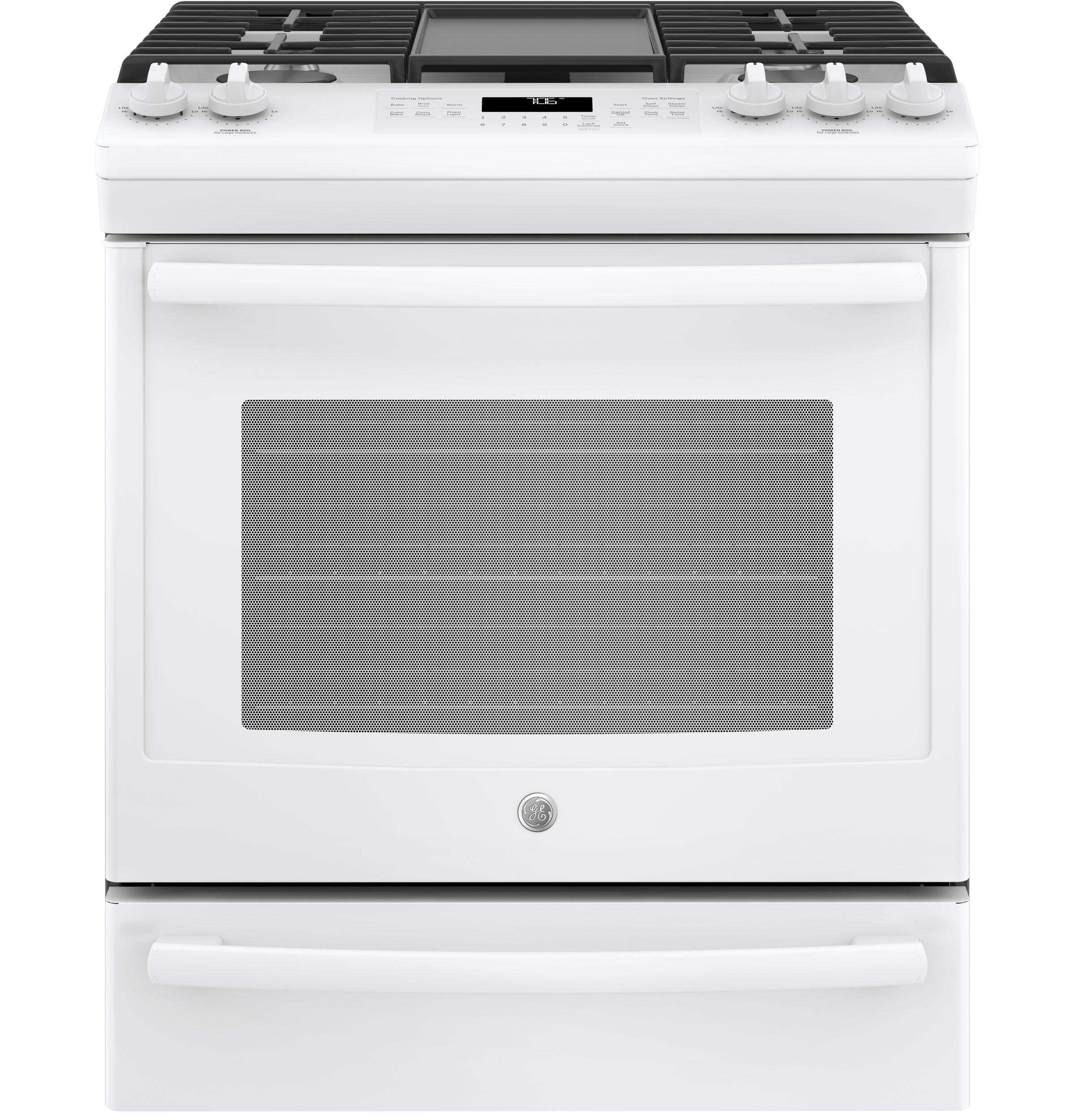 "GE(R) 30"" Slide-In Front Control Convection Gas Range