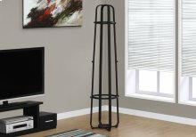 "COAT RACK - 72""H / BLACK METAL WITH AN UMBRELLA HOLDER"