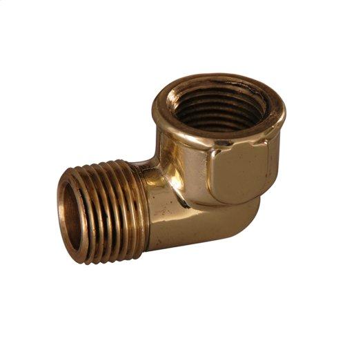 Street Elbow - Polished Brass