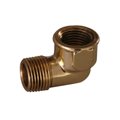 Street Elbow - Polished Brass