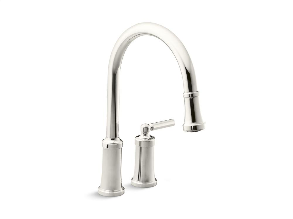Pull-Down Kitchen Faucet - Nickel Silver
