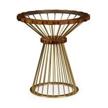 Camden Round Brass Side Table
