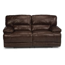 Fleet Street Leather Power Reclining Loveseat