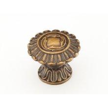 "Solid Brass, Symphony, Swans, Round Knob, 1-1/2"" diameter, Dark Italian Antique finish"