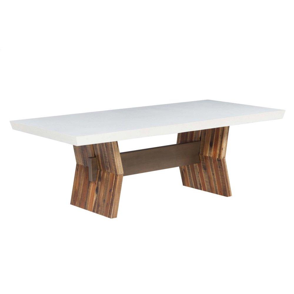 Astoria White Concrete Table