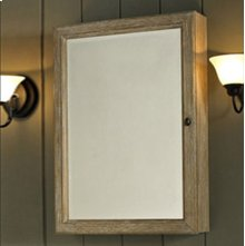 "Rustic Chic 22"" Medicine Cabinet - Weathered Oak"