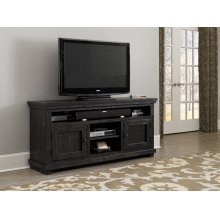 "64"" Console - Distressed Black Finish"