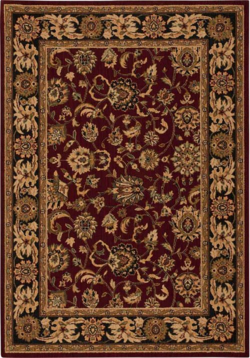 Hard To Find Sizes Grand Parterre Pt01 Red Rectangle Rug 5'2'' X 7'5''