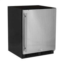 "24"" ADA Height All Refrigerator - Solid Stainless Steel Door - Right Hinge"