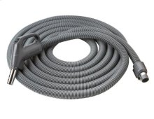 "Direct-Connect Crushproof hose, Central Vacs, 30 feet long x 1-3/8"" inner hose diameter in Dark Gray"