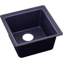 """Elkay Quartz Luxe 15-3/4"""" x 15-3/4"""" x 7-11/16"""", Single Bowl Dual Mount Bar Sink, Jubilee"""